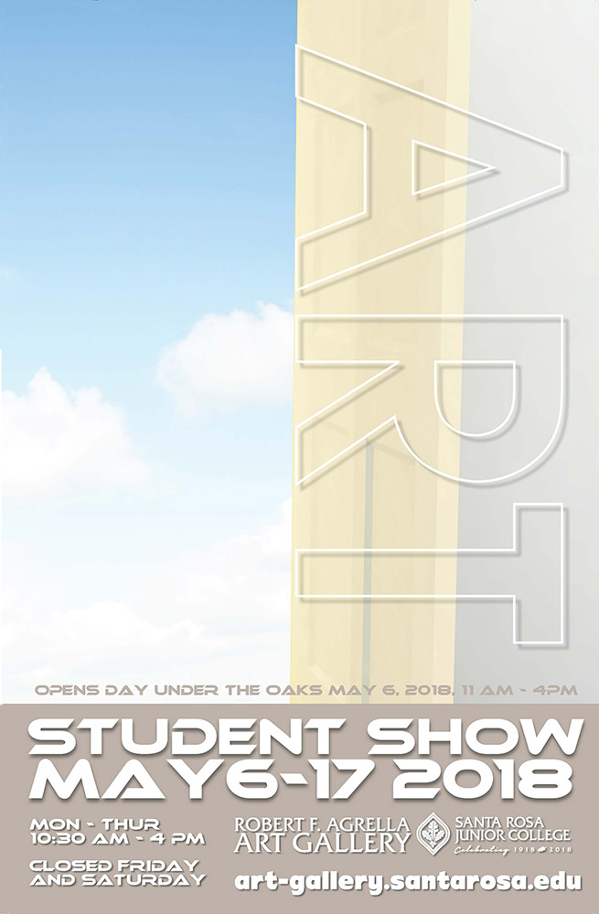 Image of poster for the Student Art Show 2018