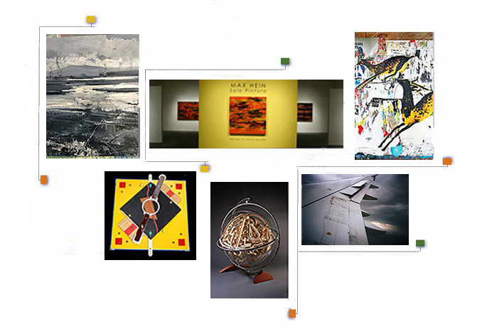 Collage of  Gallery Directors' Art Work