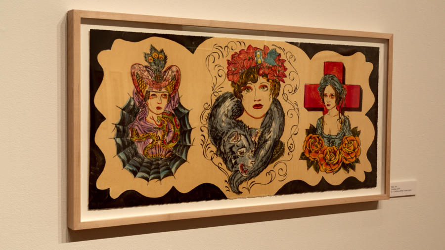 Print of three Victorian ladies from INDELIBLY YOURS: THE TATTOO PROJECT
