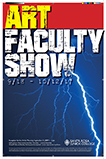 Poster for the Art Faculty Show