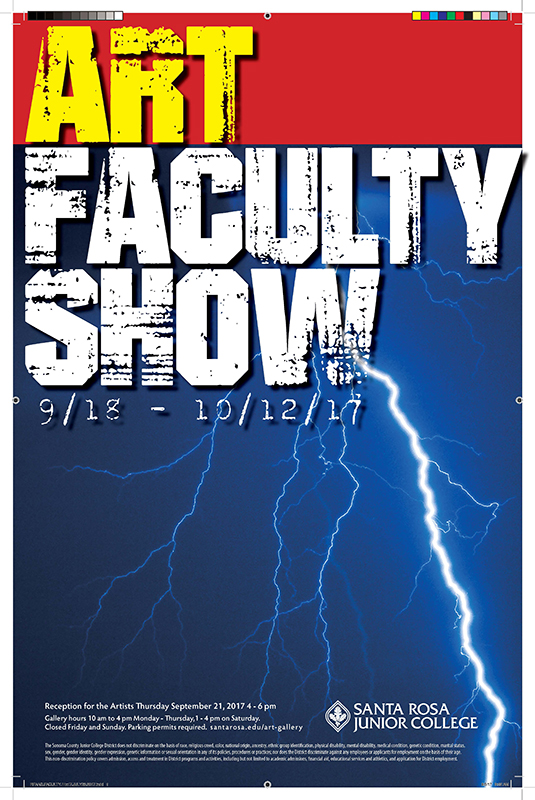 Poster for 2017 Faculty Art Show