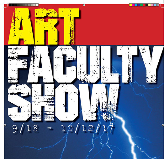 Logo for the Art Faculty Show 2017
