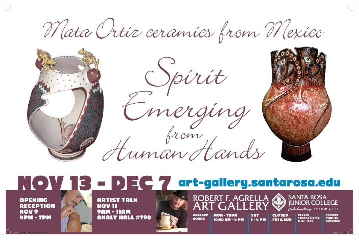 Poster for the Mata Ortiz Gallery Show