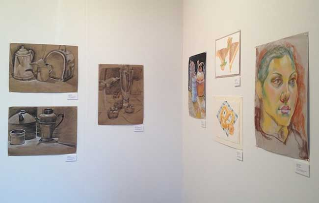 GALLERY VIEW OF STUDENT WORK IN SHOW